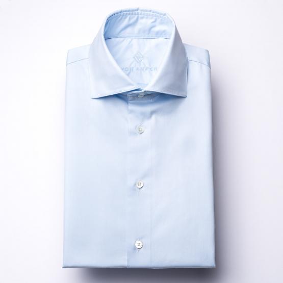 Hemd - Twill - hellblau - einfarbig