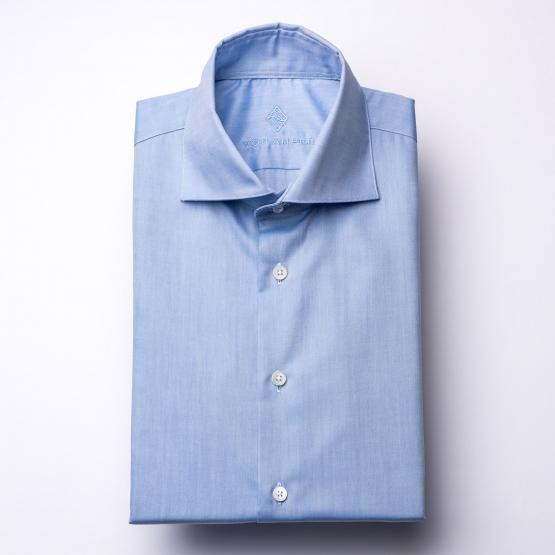 Hemd - Oxford - blau - einfarbig