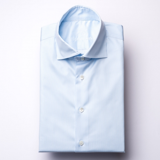 Shirt - Twill - light blue/white - striped