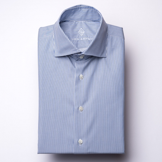 Shirt - Twill - blue/white - striped