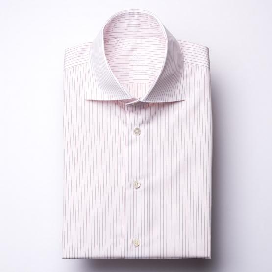 Hemd - Poplin - rot/weiß - nadelstreifen
