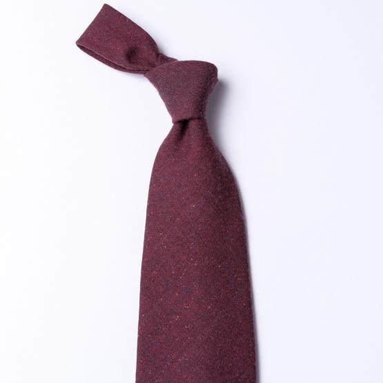 Dunkelrote Krawatte  aus reiner Wolle