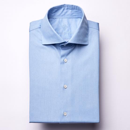 Hemd - Denim - hellblau - einfarbig
