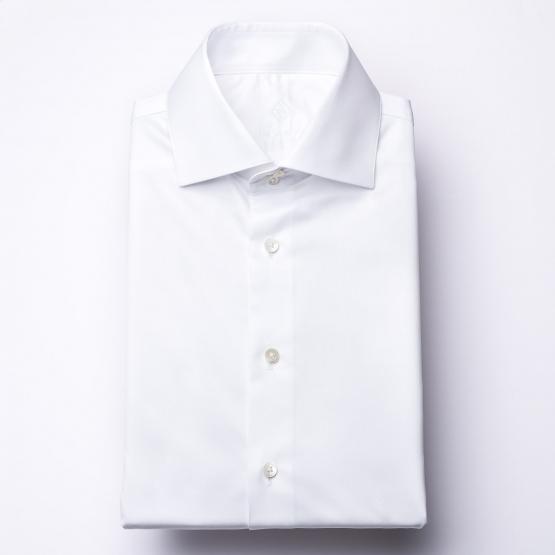 Hemd - Twill - weiß - einfarbig