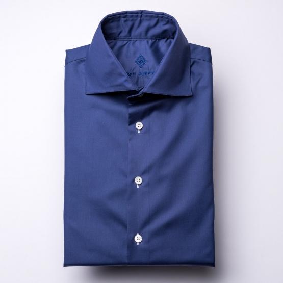Hemd - Twill - dunkelblau - einfarbig