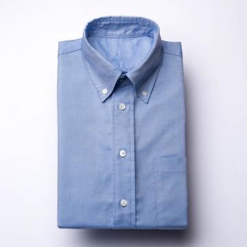 Oxford Hemd - OCBD - blau - einfarbig