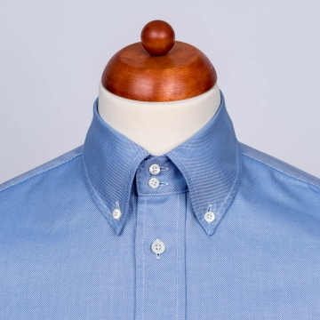 Oxford Shirt - OCBD - blue - plain