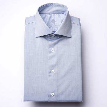 Shirt - Twill - blue - plain