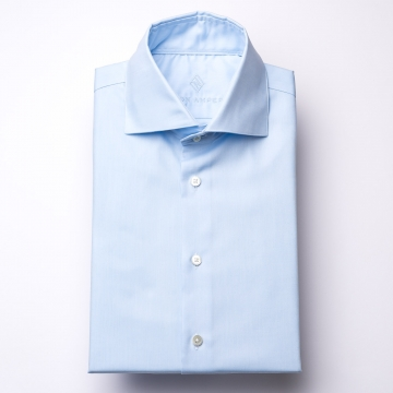 Shirt - Oxford - light blue - plain