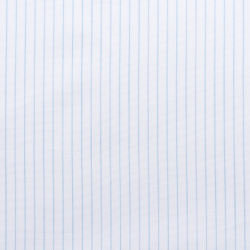 Hemd - Poplin - hellblau/weiß - nadelstreifen