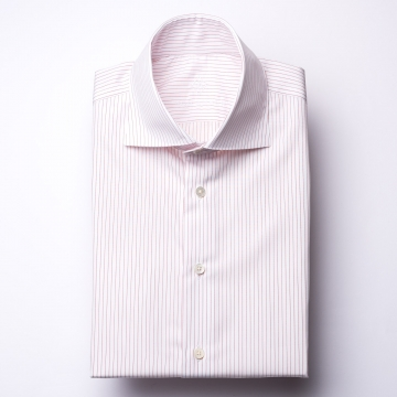 Shirt - Poplin - red/white - pinstriped