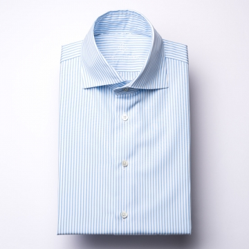 Hemd - Poplin - hellblau/weiß - gestreift
