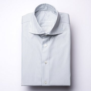 Shirt - Poplin - gray/white - striped