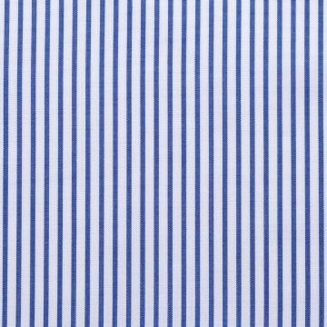 Shirt - Poplin - dark blue/white - striped