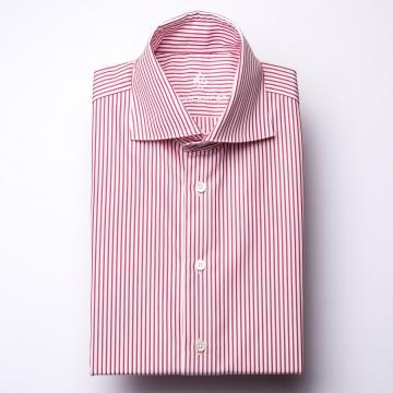 Shirt - Poplin - red/white - striped