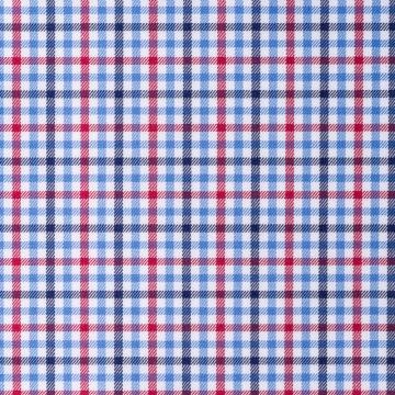 Hemd - Twill - blau/rot - kariert