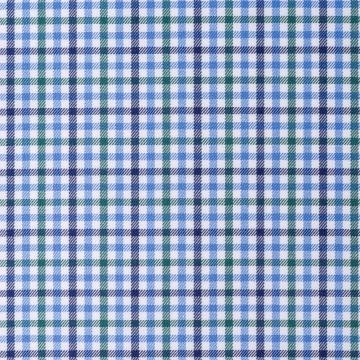 Hemd - Twill - blau/grün - kariert