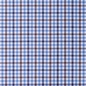 Hemd - Twill - blau/braun - kariert