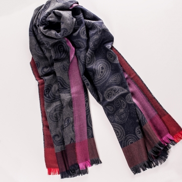 Paisley scarf  made from cashmere and silk