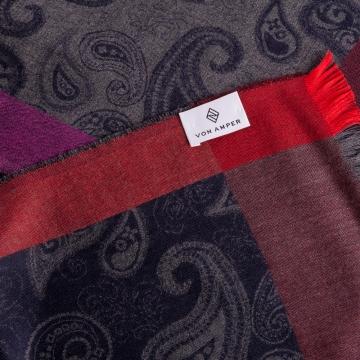 Schal mit Paisleymuster  aus Kaschmir und Seide