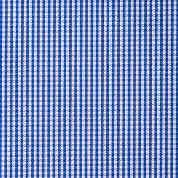 Hemd - Twill - blau - kariert