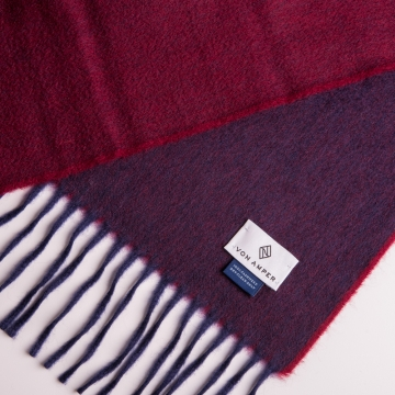 Two-tone cashmere scarf  in red/dark red