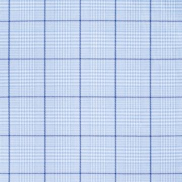 Hemd - Twill - hellblau/blau - glencheck