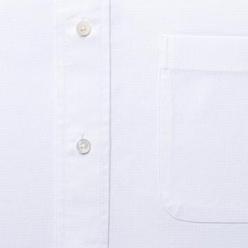 Oxford Hemd - OCBD - weiß - einfarbig