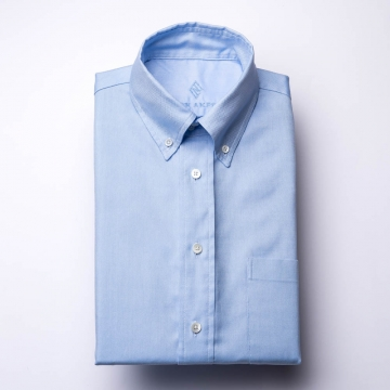 Oxford Shirt - OCBD - light blue - plain