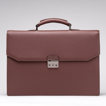 Briefcase - Leather - Brown