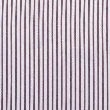 Hemd - Poplin - braun/weiß - gestreift