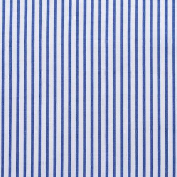 Hemd - Poplin - dunkelblau/weiß - gestreift