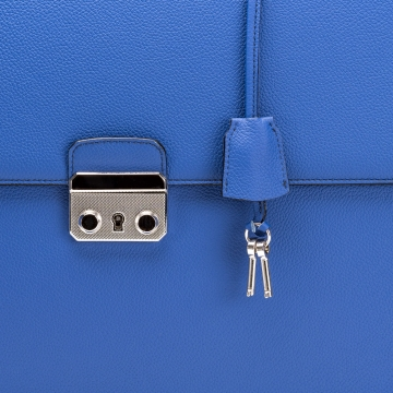 Briefcase - Leather - Blue