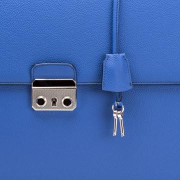 Aktentasche aus Kalbsleder - Blau