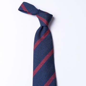 Dark blue grenadine tie  with red stripes