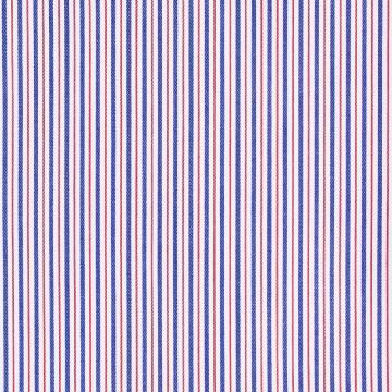 Hemd - Twill - rot/blau - gestreift