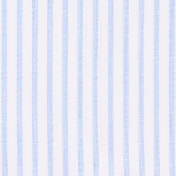 Hemd - Oxford - weiß/hellblau - gestreift