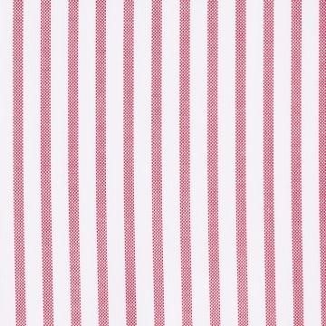 Hemd - Oxford - weiß/rot - gestreift