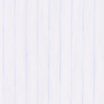 Hemd - Leinen - weiß/hellblau - gestreift