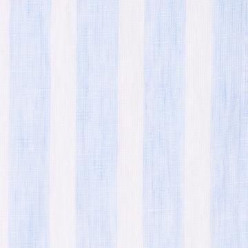 Hemd - Leinen - weiß/hellblau - blockstreifen