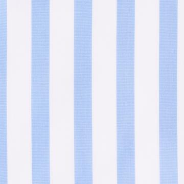 Hemd - Poplin - weiß/hellblau - gestreift