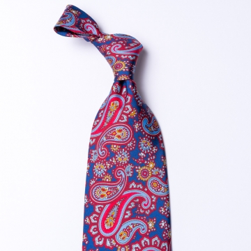 Tie from pure silk  with a paisley pattern