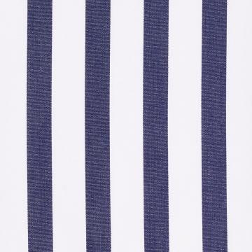 Hemd - Poplin - weiß/dunkelblau - gestreift