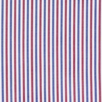 Hemd - Poplin - blau/rot - gestreift