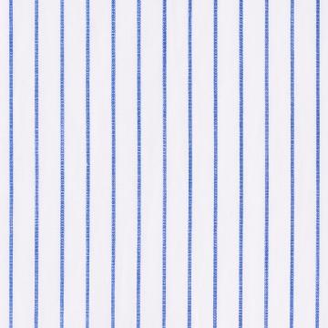 Hemd - Baumwolle/Leinen - blau - gestreift