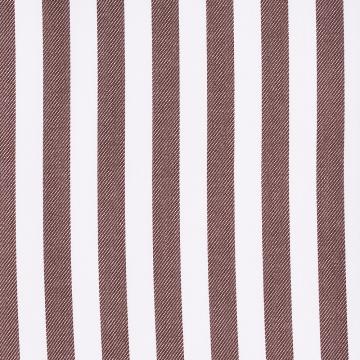 Hemd - Twill - weiß/braun - gestreift