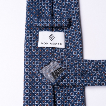 Dark blue wool tie