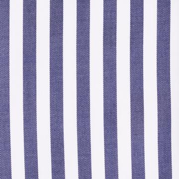 Hemd - Twill - weiß/dunkelblau - gestreift