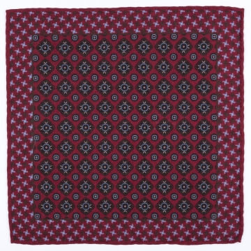Pocket square with a paisley pattern  made from pure wool