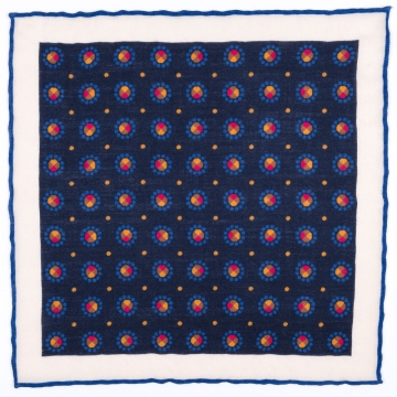 Pocket square in blue  made from pure cashmere